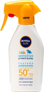 NIVEA SUN Kids Sensitive Protect & Play 50+ | Protetores solares: o teste