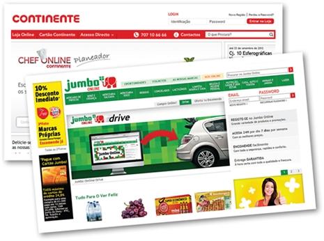 Receita para poupar online: escolha produtos de mercearia e drogaria no Jumbo e frescos no Continente.